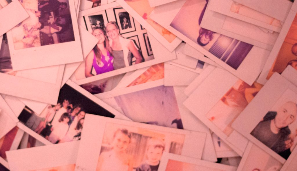 old photos from an instant camera