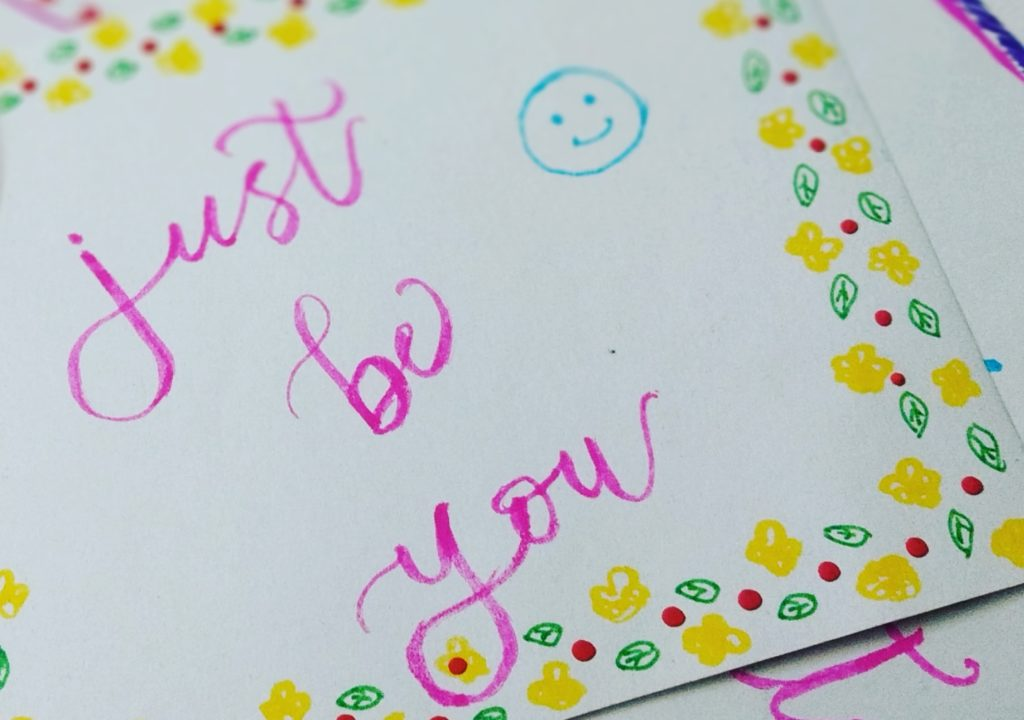 Just be you written a letter